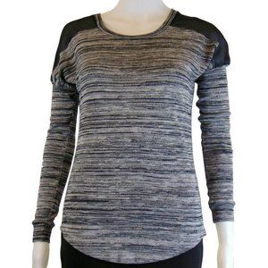 Dynamite Black and Grey with Mesh Shoulders Shirt